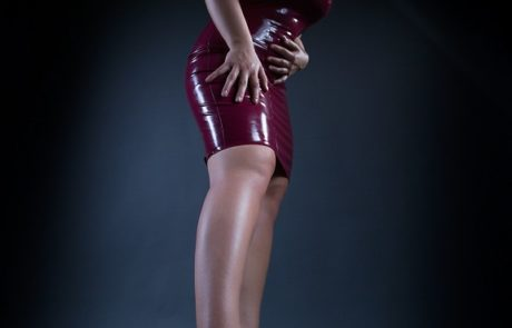 Beine High Heels Latex